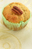 Gluten free banana pecan muffin Stock Images