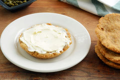 Gluten free biscuit with cream cheese Royalty Free Stock Images