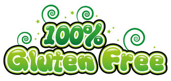 100% Gluten Free. In bubble font Stock Images