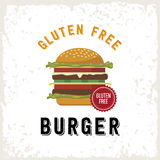 Gluten free burger illustration Royalty Free Stock Images