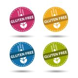 Gluten Free Buttons - Colorful Vector Illustration - Isolated On White royalty free illustration