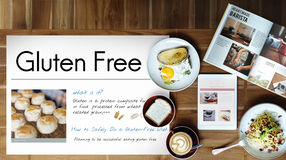 Gluten Free Celiac Disease Concept. Gluten Free Healthy Food Concept Royalty Free Stock Images