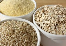 Gluten-Free Cereal Grains Stock Photos