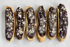 Gluten free chocolate almond biscotti Stock Photo