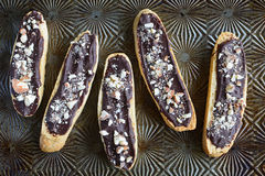 Gluten free chocolate almond biscotti Stock Images