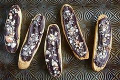 Gluten free chocolate almond biscotti Stock Images