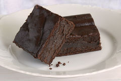 Gluten free chocolate brownies royalty free stock photography
