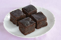 Gluten free chocolate brownies Royalty Free Stock Image
