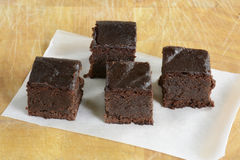 Gluten free chocolate brownies Stock Images