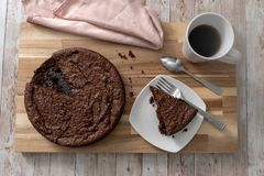 Gluten free chocolate cake stock photos