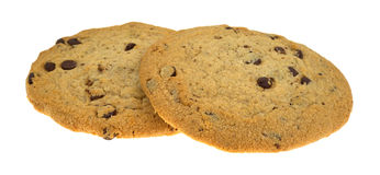 Gluten-free chocolate chip cookies on a white background Royalty Free Stock Photography