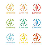 Gluten free colorful badges Royalty Free Stock Photography