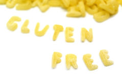 Gluten free concept. pasta in the form of letters stock photo