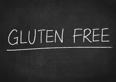 Gluten free. Concept word on blackboard background Stock Photo