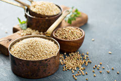 Gluten free cooking with quinoa royalty free stock photography