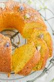 Gluten free cornmeal orange cake Royalty Free Stock Photos