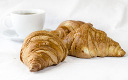 Gluten-free Croissants. Gluten free product Croissants on white background Royalty Free Stock Photo