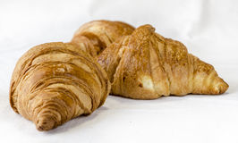 Gluten-free Croissants. Gluten free product Croissants on white background Royalty Free Stock Photos