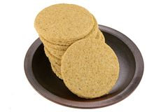 Gluten free crumbly rough Oatcakes Stock Photos