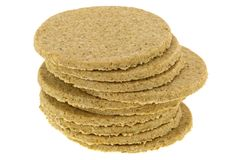 Gluten free crumbly rough Oatcakes Royalty Free Stock Photography