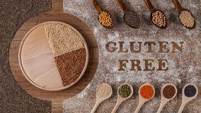 Gluten free diet options - various seeds and grains - stop motion animation