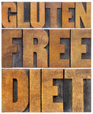 Gluten free diet word abstract Stock Images