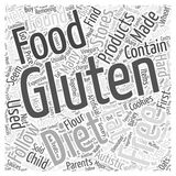 Gluten Free Diet word cloud concept background Royalty Free Stock Photography
