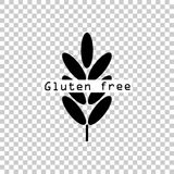 Gluten free. Ears of wheat, cereal. Ear of oats. rye ears. Vector icon illustration Stock Photography