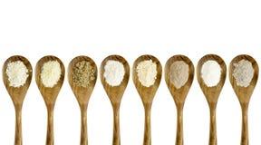 Gluten free flour spoon set Stock Images