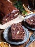 Gluten-free flourless chocolate cake Stock Photos