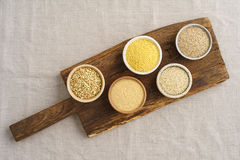 Gluten free flours Stock Images