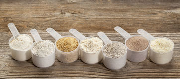 Gluten free flours royalty free stock images