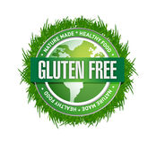 Gluten Free food label. illustration design Stock Photo