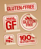 Gluten free food stickers. Royalty Free Stock Photos