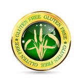 Gluten Free golden green button Stock Photography