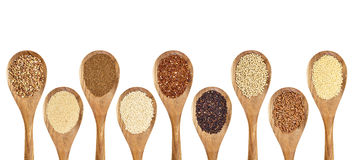 Gluten free grains Royalty Free Stock Images