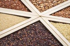 Gluten free grains Stock Photos