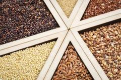 Gluten free grains Royalty Free Stock Image