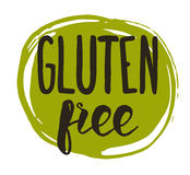 Gluten free hand drawn isolated label Royalty Free Stock Image