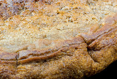 Gluten free homemade bread. Side view Royalty Free Stock Photography