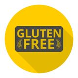 Gluten Free icon with long shadow Royalty Free Stock Photos