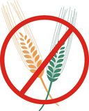 Gluten free icon vector. Simple clipart of ear grain Royalty Free Stock Image