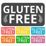 Gluten Free icons set Stock Photo