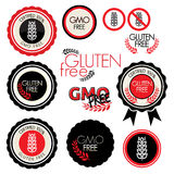 Gluten free label collection Royalty Free Stock Images