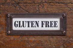 Gluten free label Royalty Free Stock Photo