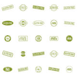 Gluten Free labels. Abstract gluten free labels on a white background Stock Images