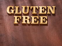 Gluten free - Letters in wood stock photography