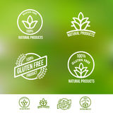 Gluten Free Logo Badges and Emblems Stock Photography