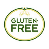 Gluten-Free Logo Icon Symbol. Gluten-Free Natural Goodness Logo. Graphic Oval Typographic Icon. Fully editable vector illustration for web, print and food Stock Image