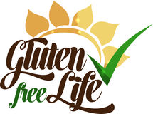 Gluten free message Stock Images